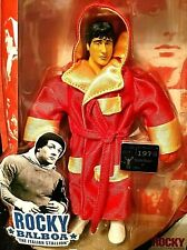 Jakks Pacific ROCKY BALBOA Red Gold Fight Robe Boxing Stallone Action Figure 6in