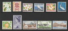 Cook Islands 1963 QEII Complete set SG 163-173 Mnh.