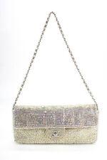 Chanel mujer Iridiscente Strass E/W Con Solapa Bolso Bolso de Mano Multicolor