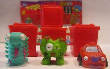 3 figuras * Trash Pack * serie 4 * lazos de basura * Preziosi * nuevo (w40)