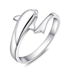 Neues AngebotGrößenverstellbar Silber Delphin Ring A032