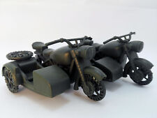 2 pcs Military Motorcycle Side Car Plastic Toy Soldier Army Accessories