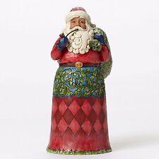 """Jim Shore """"Rejoice & Be Glad"""" Victorian Santa ~ Sugary Glitter Accents ~ New"""