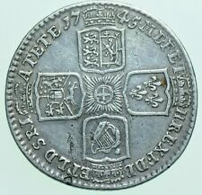 More details for 1745 lima george ii shilling, british silver coin vf+