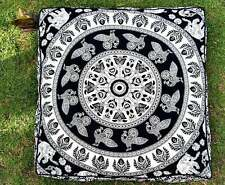 """Cushion Floor Pillow 35"""" Mandala Ottoman Case Indian Square Seating Cover Pouf"""