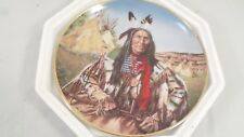 Vtg Franklin Mint Warrior At Peace American Indian Heritage Collector Plate