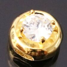 1Ct Solitaire Round Diamond Pendant Charm Enhancer SOLID 14k Yellow Gold Jewelry