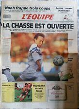 L'Equipe Journal 10/5/1991; Noah en 1/4 de finale/ Marseille pour le titre/ Senn
