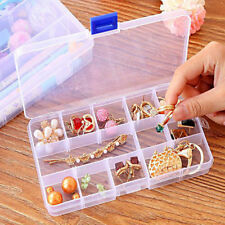 15 Grid Slots Clear Plastic Storage Box Case Jewelry Parts Organizer Container