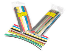 Partex 6.4mm Heatshrink Tube Pack, 2 x 250mm of 10 colours, car electrical
