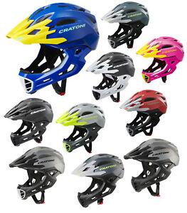 Cratoni C-Maniac Downhill BMX Fullface Helm Fahrradhelm 320g Kinnbügel abnehmbar