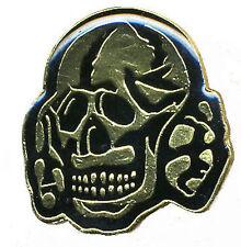 DEATHROCK SKULL METAL PIN - alien sex fiend specimen batcave gothic rozz