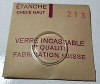 Verre de montre suisse bombé plexi diamètre 213 Watch crystal vintage *NOS*
