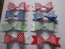 8 x 3D Abbellimenti Fiocco Card Making-Colori Misti-SET 2