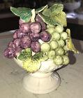 Purple/Green Small Pedestal Centerpiece Figurine Ardco Japan EUC