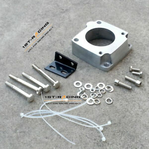Intake Manifold Throttle Body Adapter w/fittings fit Nissan R33 RB25DET Skyline