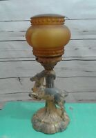 Art Deco Lamp Antelope Globe Elegant Unique Shabby Chic Boho
