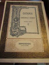 Catania al Cardinale Dusmet ricordi patrii 1904