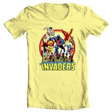 The Invaders T Shirt 1970s vintage WWII  Marvel Comics Union Jack graphic tee YL