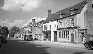 B/W Negative Midhurst West Sussex Village Street Shops 1940s +Copyright W497