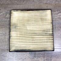 Threshold BAMBOO Square Dinner Plates Stoneware Tan Brown Individual FLAW