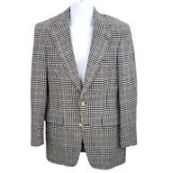 Austin Reed 38R Sport Coat Jacket Blazer Houndstooth Plaid Wool 2 Button Vintage