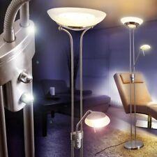 LED Lámpara de pie elegante ambas luces regulables por separado para hogar salón