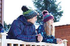 Sacacorchos Pom Pom Beanie BC486 Gorro de lana caliente de invierno de punto retro