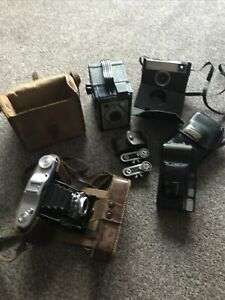 Bundle/Joblot Vintage Cameras And Accessories Nettar/Kodak/Canon