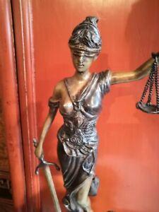 Justizia aus Bronze, 44 cm