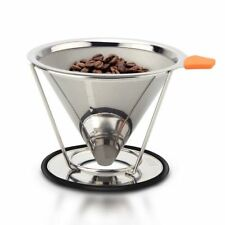 Stainless Steel Mesh Coffee Filter Paperless Pour Over Cone Dripper Reusable HOT
