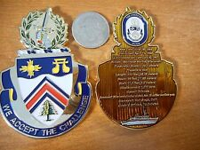 USS Champion MCM 4 Mine Countermeasure Minesweeper Ship Navy Challenge Coin