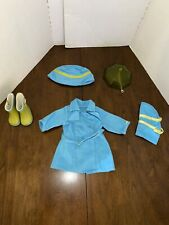 American Girl Doll Raincoat and Boots Set with pet rain gear  RETIRED