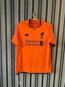 Liverpool FC Third Orange Shirt Jersey 2017/2018 125 Year size L