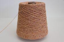 R42 500g SCHURWOLLE / SEIDE APRIKOSE (3,3) Wolle Zwirn Strick