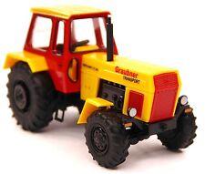 H0 BUSCH Traktor Fortschritt ZT 303 Graubner Transport gelb rot schwarz # 42824