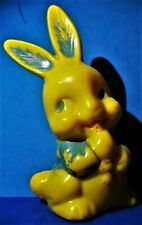 1950s Hard Plastic Styrene Yellow Bunny Rabbit Rattle
