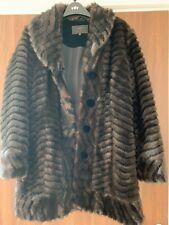 Per Una Faux fur Jacket Cost £99 NEW Size M WORN ONCE