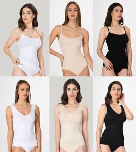 Damen Bauchweg Formhemd Unterhemd Bodyformer Shaper Korselett Figurformer