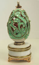 Russian Replica Faberge egg featuring a Ballet dancer, turning to Music
