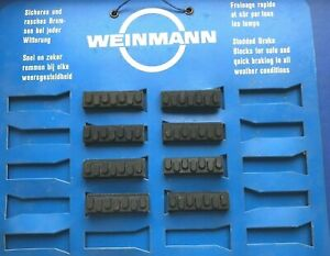 NEW OLD STOCK WEINMANN BRAKE BLOCKS,42MM LONG,IDEAL FOR MAFAC,WEINMANN