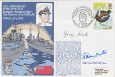 40th Anniv Rescue of British Prisoners from German Ship Altmark signed U-Boat