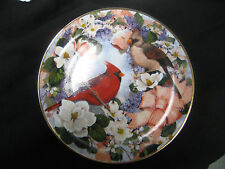Franklin Mint collector plate cardinals in the blossoms by Theresa Politowicz
