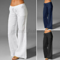 Oversize Femme Pantalon Casual en vrac Loisir  Bande élastique Jambe Large Plus