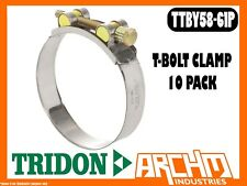 TRIDON TTBY58-61P T-BOLT CLAMP HOSE 10 PACK 58MM-61MM PART STAINLESS TTBY SERIES