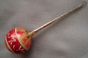 "BEAUTIFUL ANTIQUE ""END OF THE DAY"" BALLOON SHAPED CHRISTMAS ORNAMENT - GERMANY"