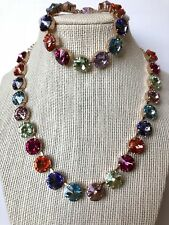 Swarovski crystal elements Necklace Bracelet Fun Set Spring Colors  12mm New