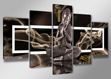 """Pictures XXL art 6306 Canvas framed Buddha 5 pts Brand Visario 78""""x39''TOP"""