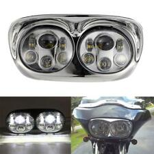 LED Headlight Dual Projector Daymaker Lamp For Harley Road Glide 2004-2013 12 11