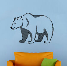 Grizzly Bear Wall Decal Wild Animal Vinyl Sticker Nature Atr Home Decor 32br